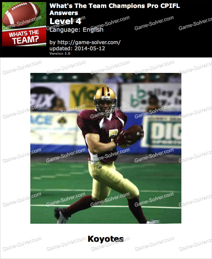 What's The Team Champions Pro CPIFL Level 4