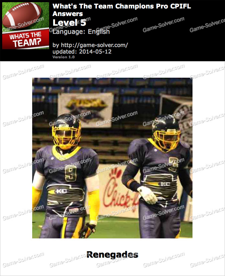 What's The Team Champions Pro CPIFL Level 5