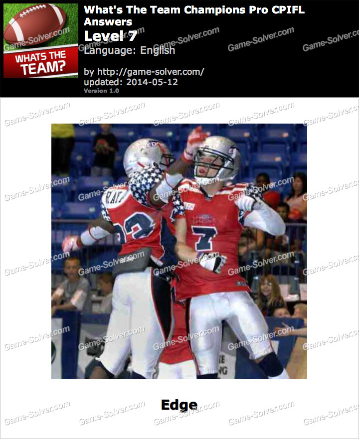 What's The Team Champions Pro CPIFL Level 7