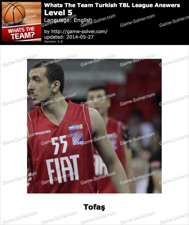 Whats The Team Turkish TBL League Level 5