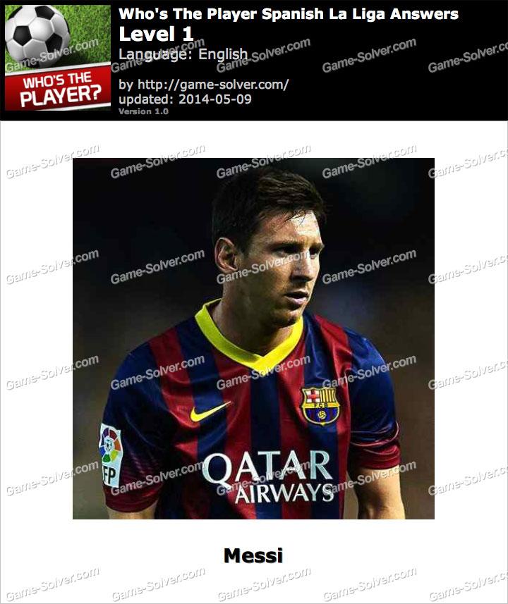 Who's The Player Spanish La Liga Level 1