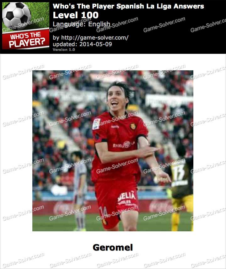 Who's The Player Spanish La Liga Level 100