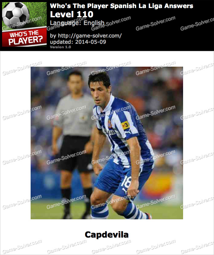 Who's The Player Spanish La Liga Level 110
