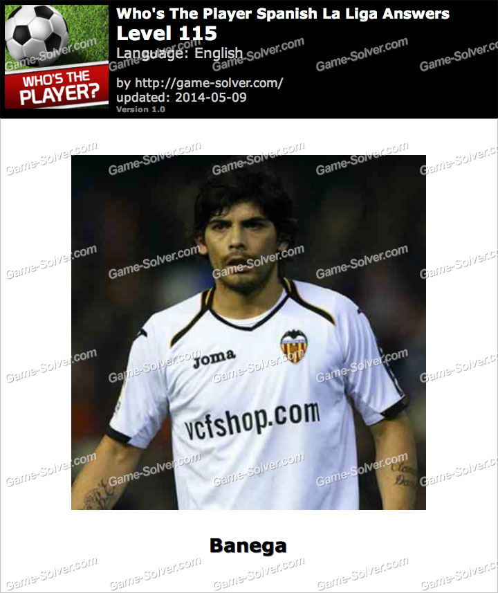 Who's The Player Spanish La Liga Level 115