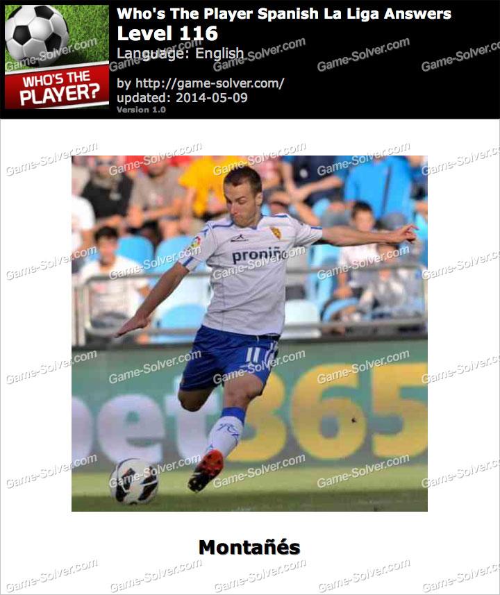 Who's The Player Spanish La Liga Level 116