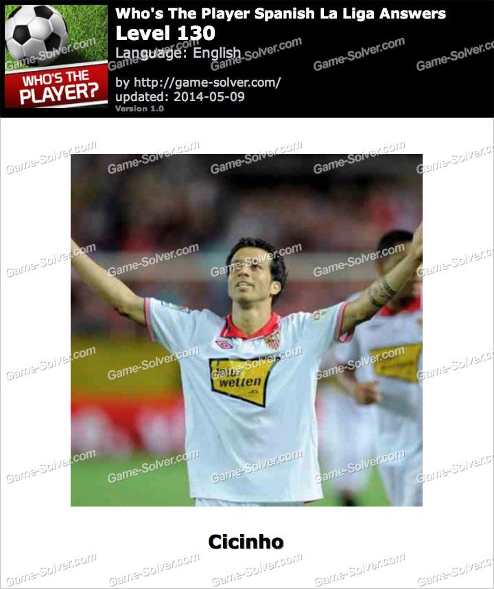 Who's The Player Spanish La Liga Level 130