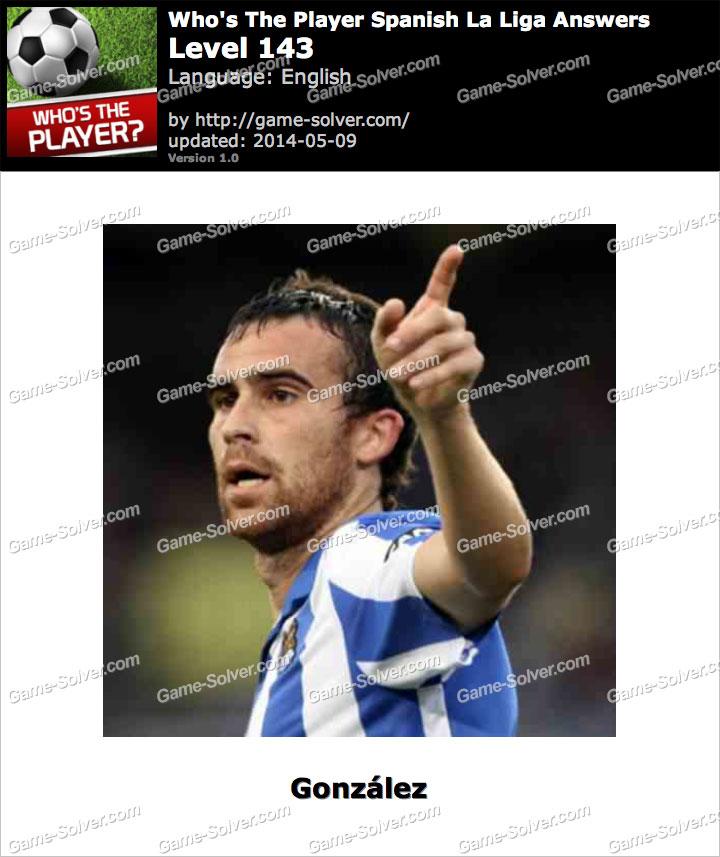 Who's The Player Spanish La Liga Level 143