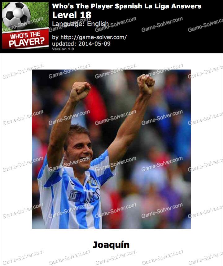 Who's The Player Spanish La Liga Level 18
