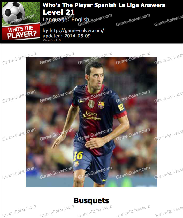 Who's The Player Spanish La Liga Level 21
