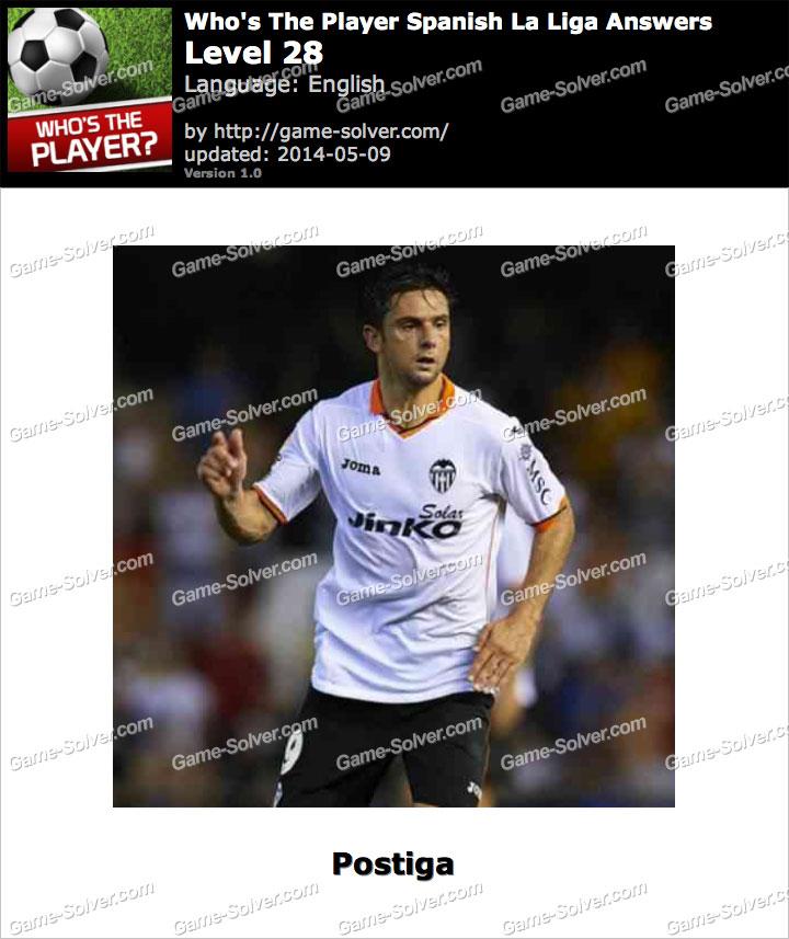 Who's The Player Spanish La Liga Level 28