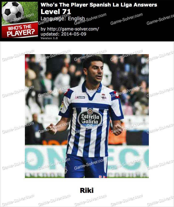 Who's The Player Spanish La Liga Level 71