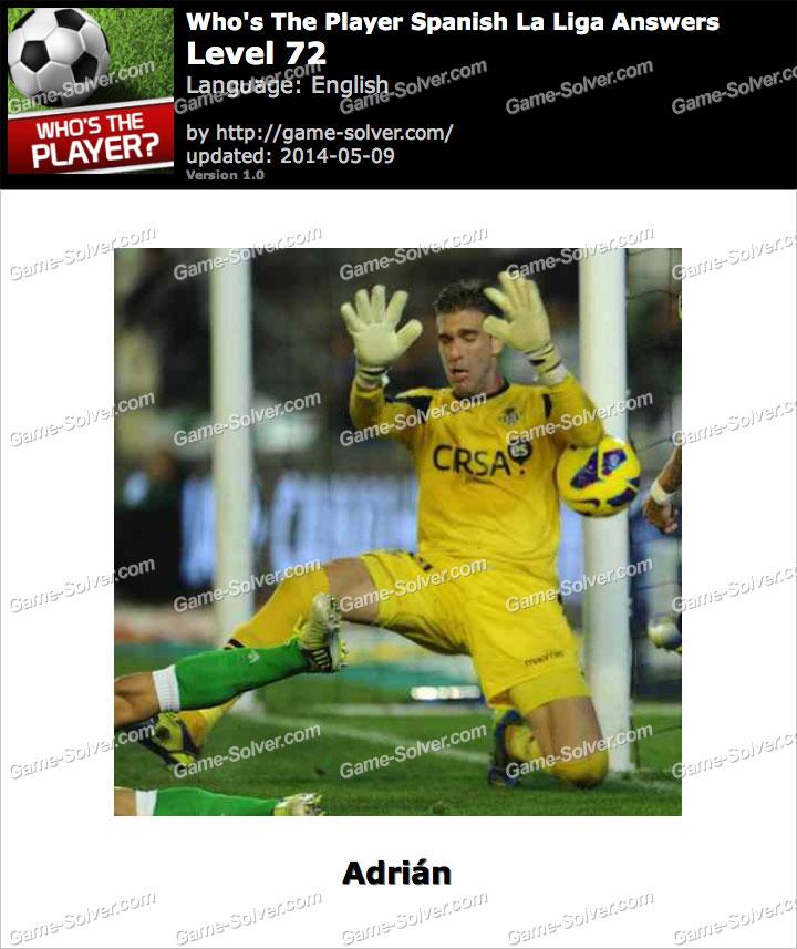 Who's The Player Spanish La Liga Level 72