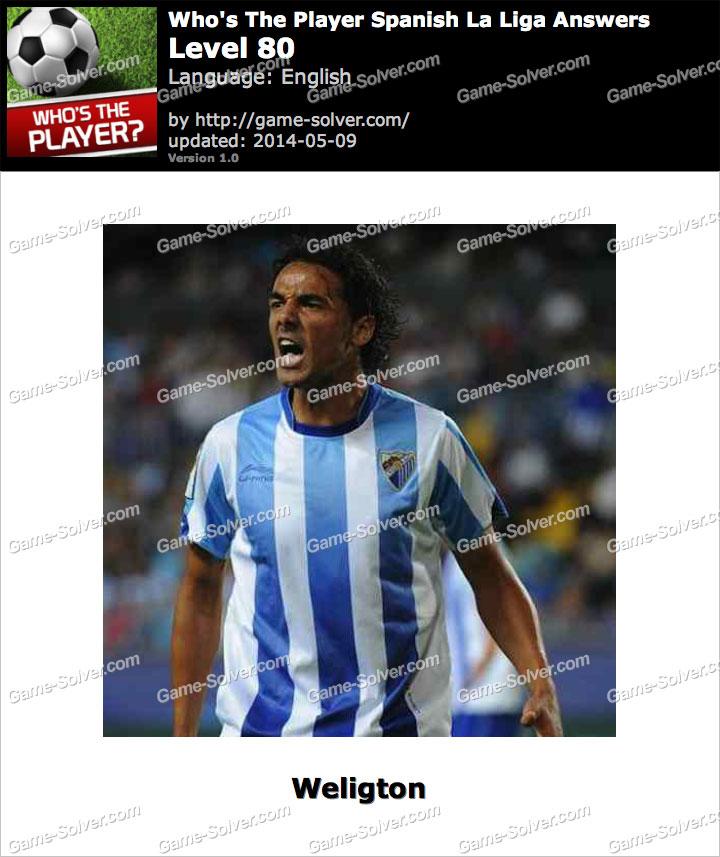 Who's The Player Spanish La Liga Level 80