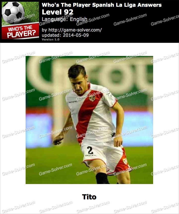 Who's The Player Spanish La Liga Level 92