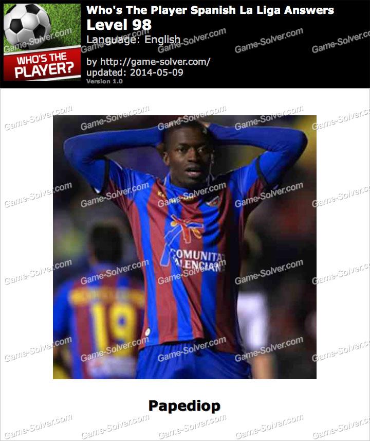 Who's The Player Spanish La Liga Level 98