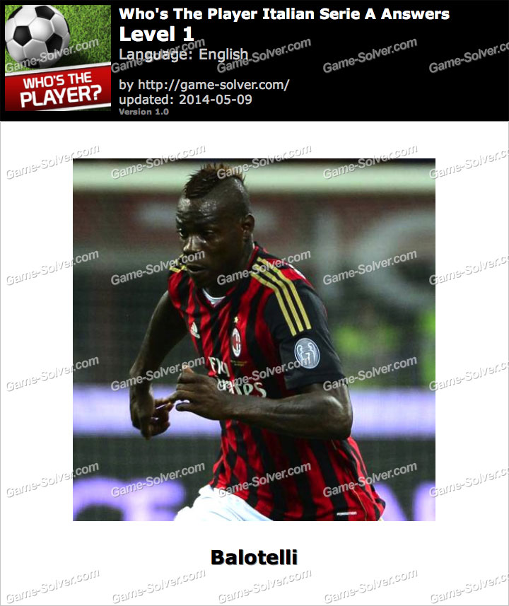 Who's The Player Italian Serie A Level 1