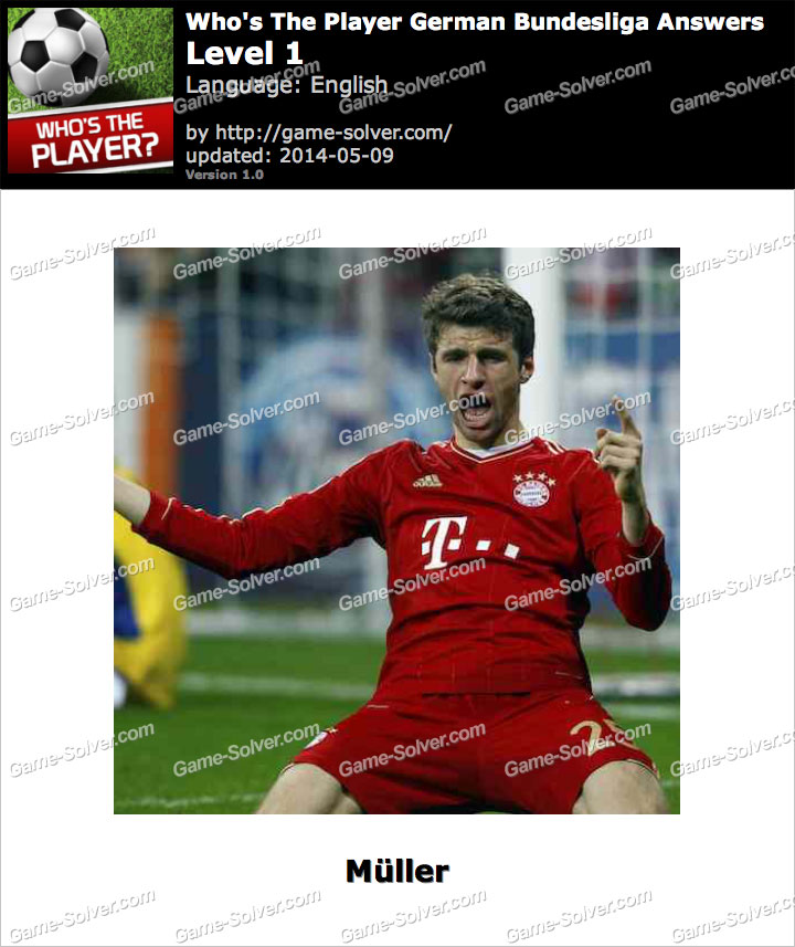 Who's The Player German Bundesliga Level 1