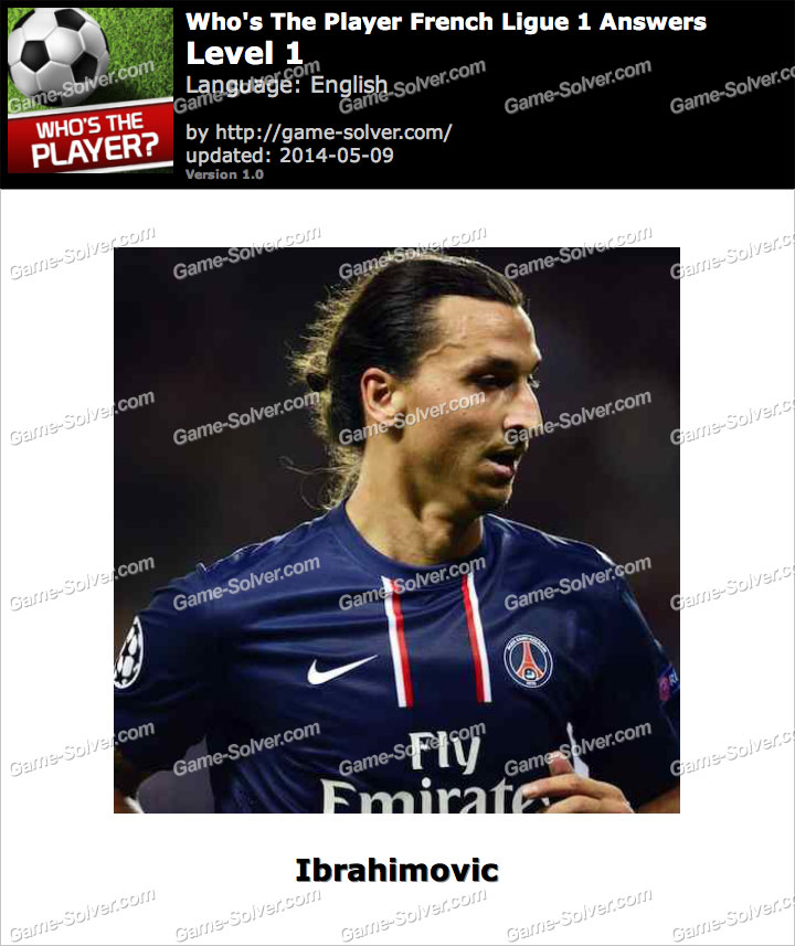 Who's The Player French Ligue 1 Level 1