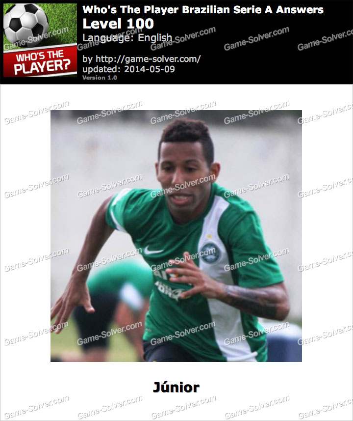Who's The Player Brazilian Serie A Level 100
