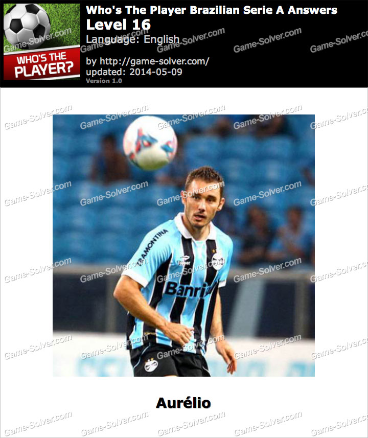 Who's The Player Brazilian Serie A Level 16
