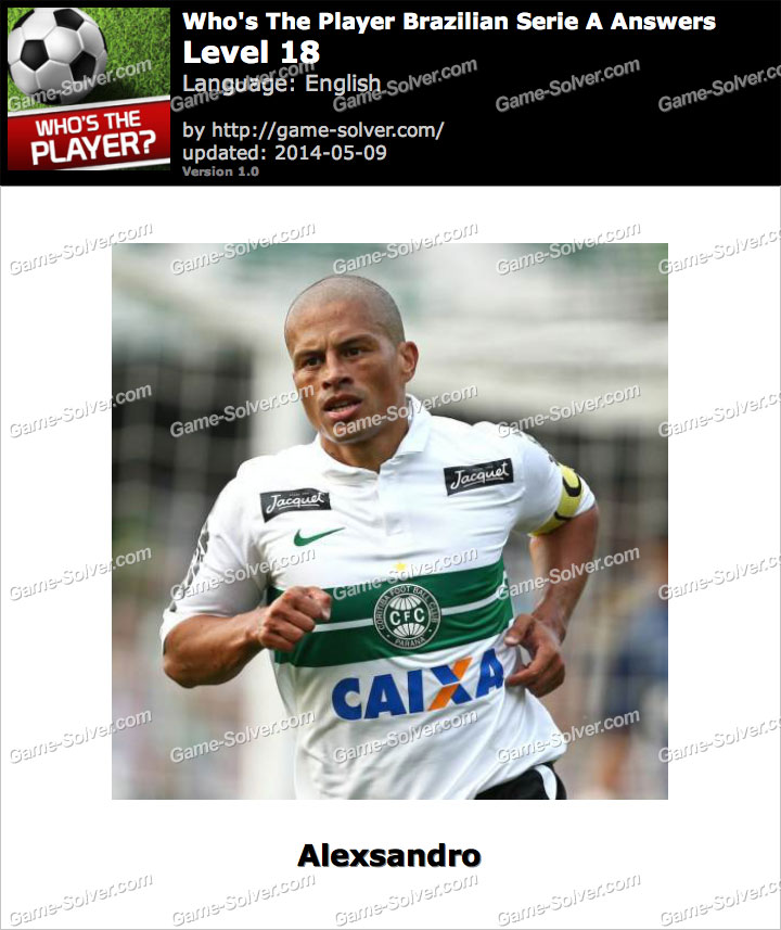 Who's The Player Brazilian Serie A Level 18
