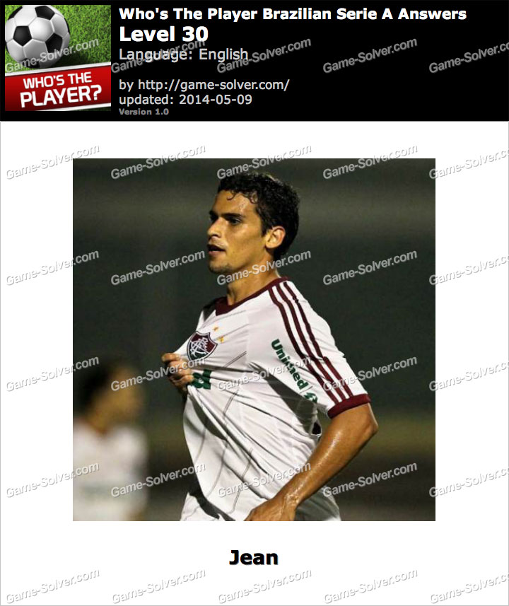 Who's The Player Brazilian Serie A Level 30