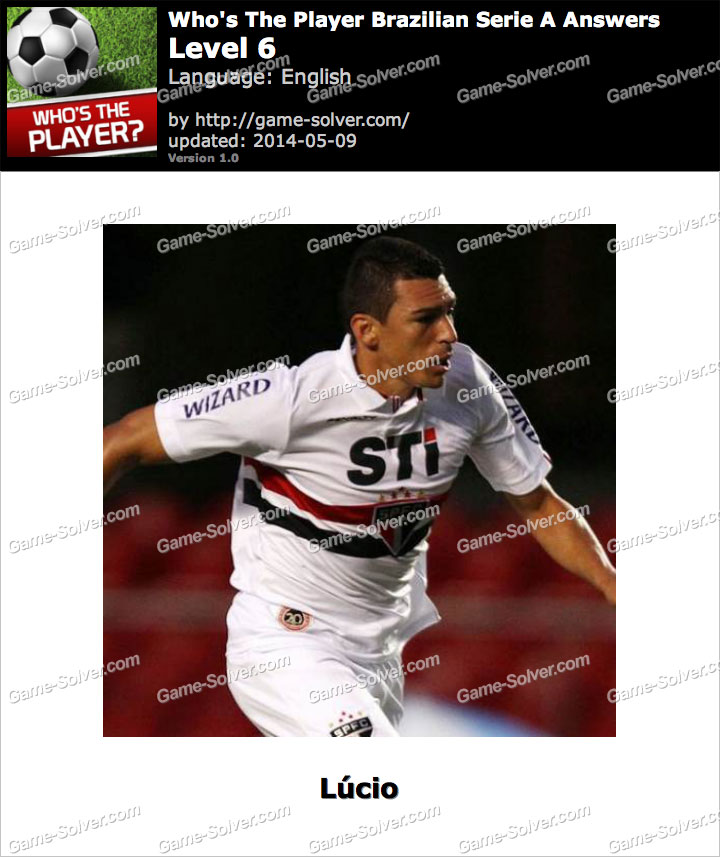 Who's The Player Brazilian Serie A Level 6