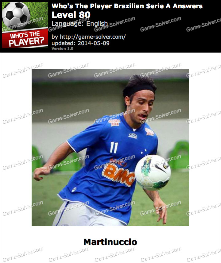 Who's The Player Brazilian Serie A Level 80