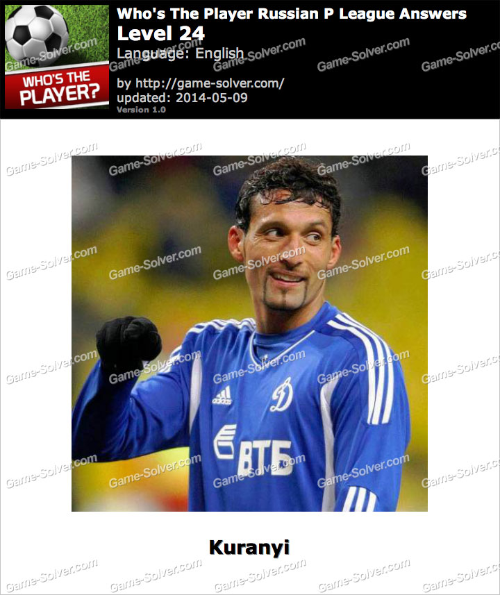 Who's The Player Russian P League Level 24