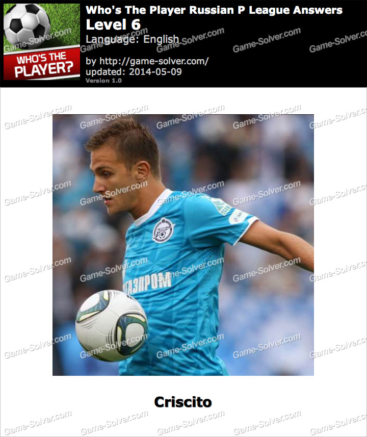 Who's The Player Russian P League Level 6
