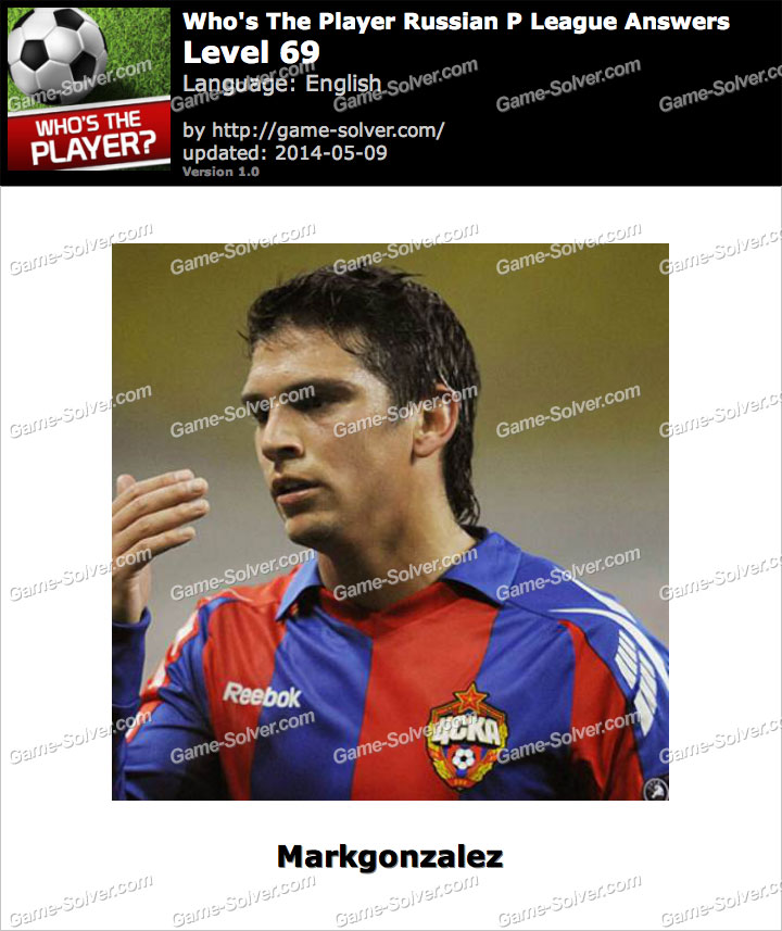 Who's The Player Russian P League Level 69