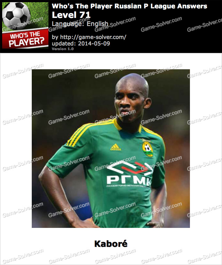 Who's The Player Russian P League Level 71