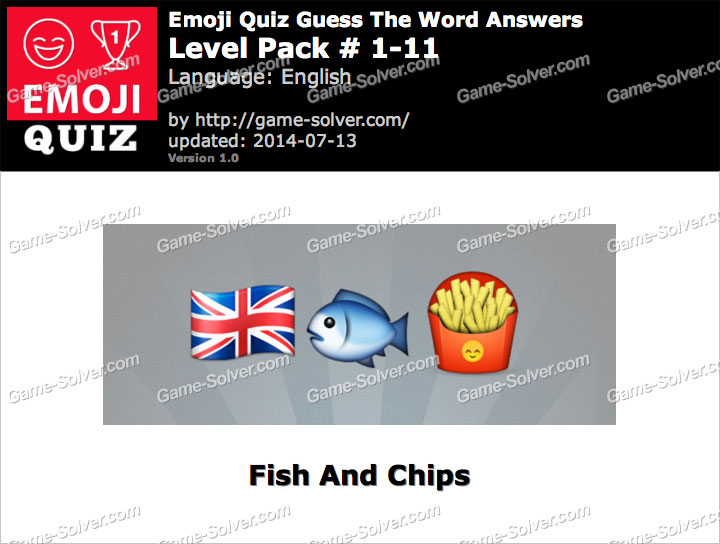 Emoji Quiz Guess the Word Level Pack 1-11
