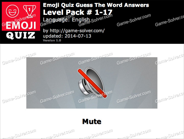 Emoji Quiz Guess the Word Level Pack 1-17