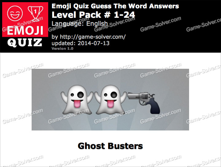 Emoji Quiz Guess the Word Level Pack 1-24