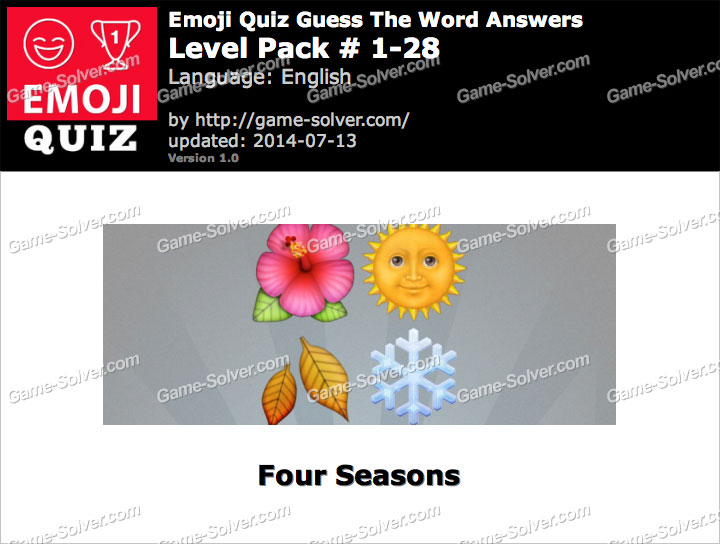 Emoji Quiz Guess the Word Level Pack 1-28