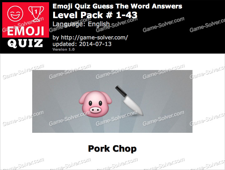 Emoji Quiz Guess the Word Level Pack 1-43