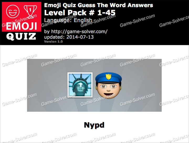 Emoji Quiz Guess the Word Level Pack 1-45