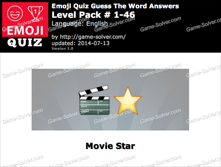 Emoji Quiz Guess the Word Level Pack 1-46
