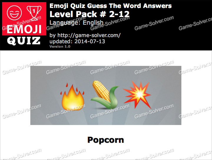 Emoji Quiz Guess the Word Level Pack 2-12