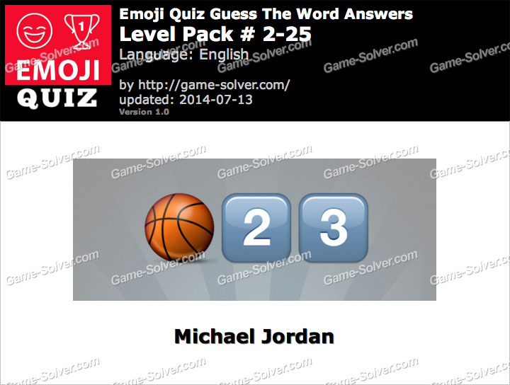 Emoji Quiz Guess the Word Level Pack 2-25