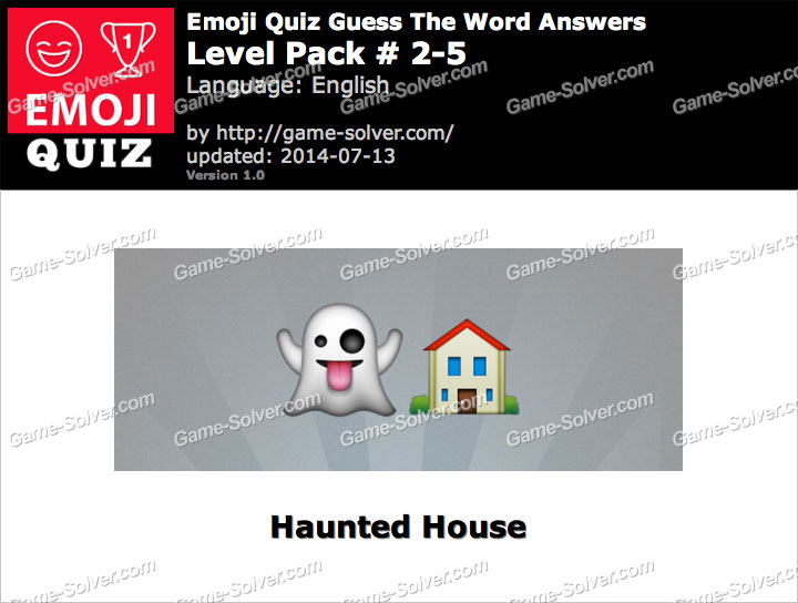 Emoji Quiz Guess the Word Level Pack 2-5