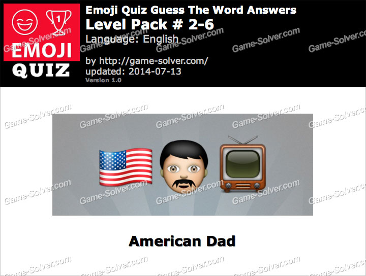 Emoji Quiz Guess the Word Level Pack 2-6