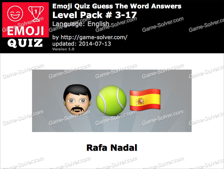 Emoji Quiz Guess the Word Level Pack 3-17