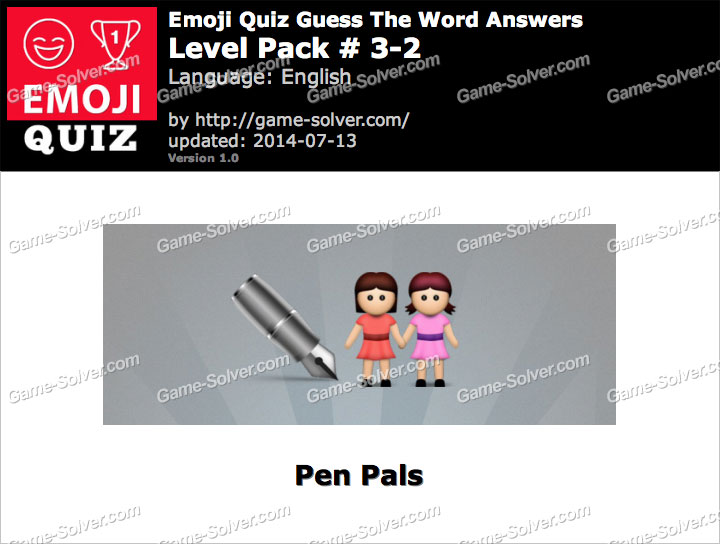 Emoji Quiz Guess the Word Level Pack 3-2