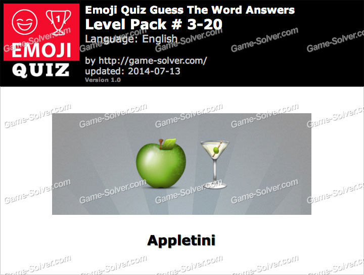 Emoji Quiz Guess the Word Level Pack 3-20
