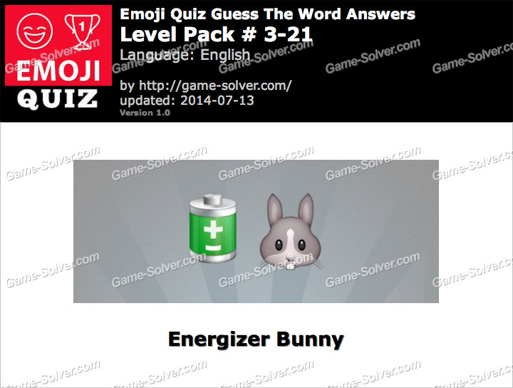 Emoji Quiz Guess the Word Level Pack 3-21