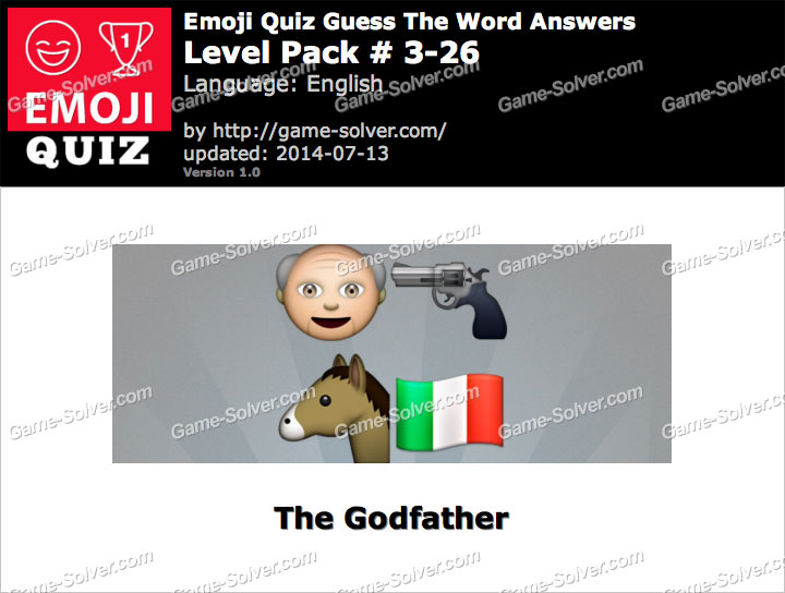 Emoji Quiz Guess the Word Level Pack 3-26