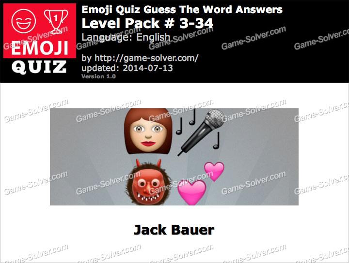 Emoji Quiz Guess the Word Level Pack 3-34