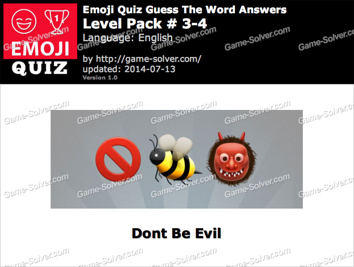 Emoji Quiz Guess the Word Level Pack 3-4
